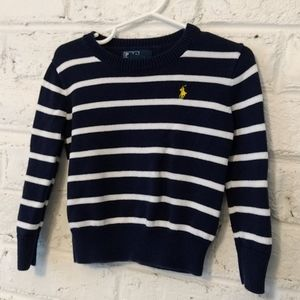 Polo by Ralph Lauren blue & white striped sweater